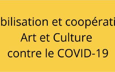 Mobilisation et coopération Art et Culture contre le covid-19